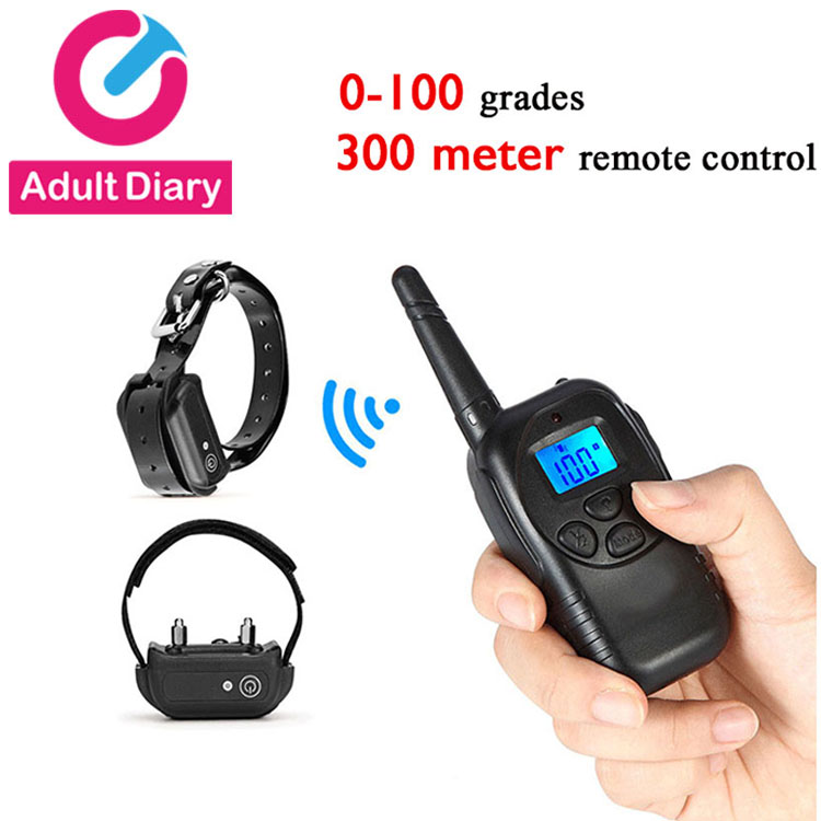 Adult Diary Chastity Cock Ring Remote Control Electro Stimulation Penis Ring Neck Collar Sex Toys For