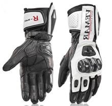 Длинные мотоциклетные перчатки мужские кожаные защитные гоночные перчатки Мотоциклетные Перчатки мотоциклетные перчатки 4 цвета Размеры M L XL XXL