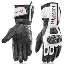 Uzun motosiklet eldivenleri erkek deri koruma yarış eldivenleri moto eldiven moto rbike eldiven 4 renk boyutu M L XL XXL