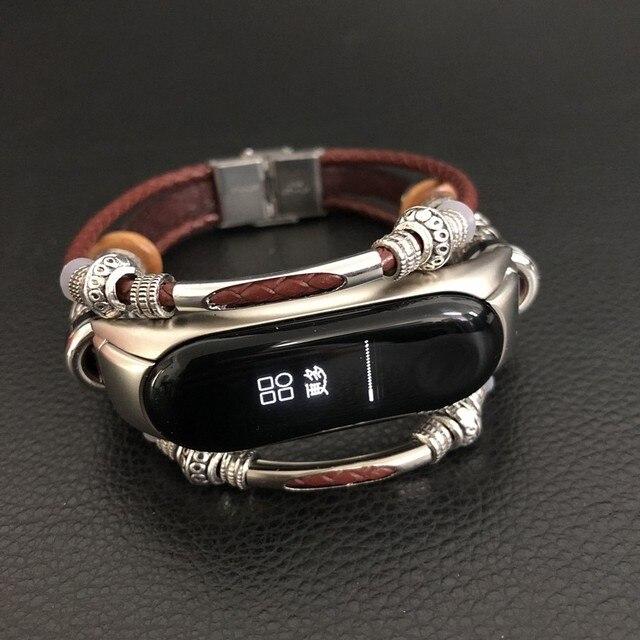 שעון להקת לשיאו mi mi Band 3 ספורט רצועת שעון עור רצועת יד עבור שיאו mi mi Band 3 אביזרי צמיד mi band 3 רצועה