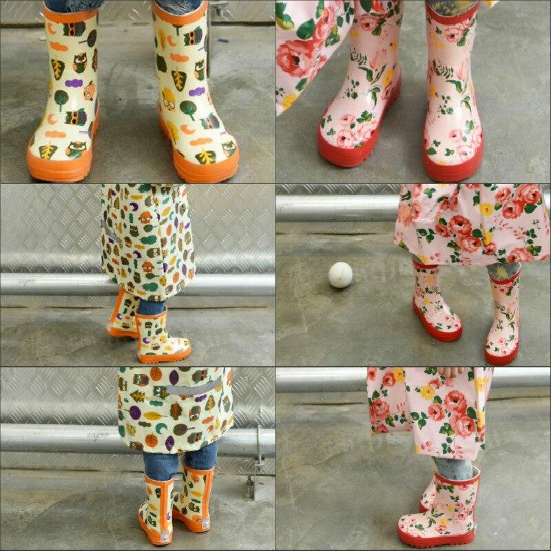 Enfants bottes de pluie bébé fille garçon enfants neutre unisexe dessin animé chaussures d'eau toute saison mode imperméable et dérapage bottes mignon