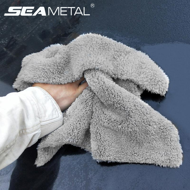 Microfiber Towel Car Wash Towels Auto Detialing Clean Cloth Washing Drying Towels Strong Thick Plush Fiber Car Wash Accessories-in Sponges, Cloths & Brushes from Automobiles & Motorcycles