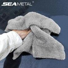 Serviettes de nettoyage de voiture en microfibre, serviettes fortes et épaisses pour le nettoyage de la voiture, accessoires pour le nettoyage et le séchage de la voiture
