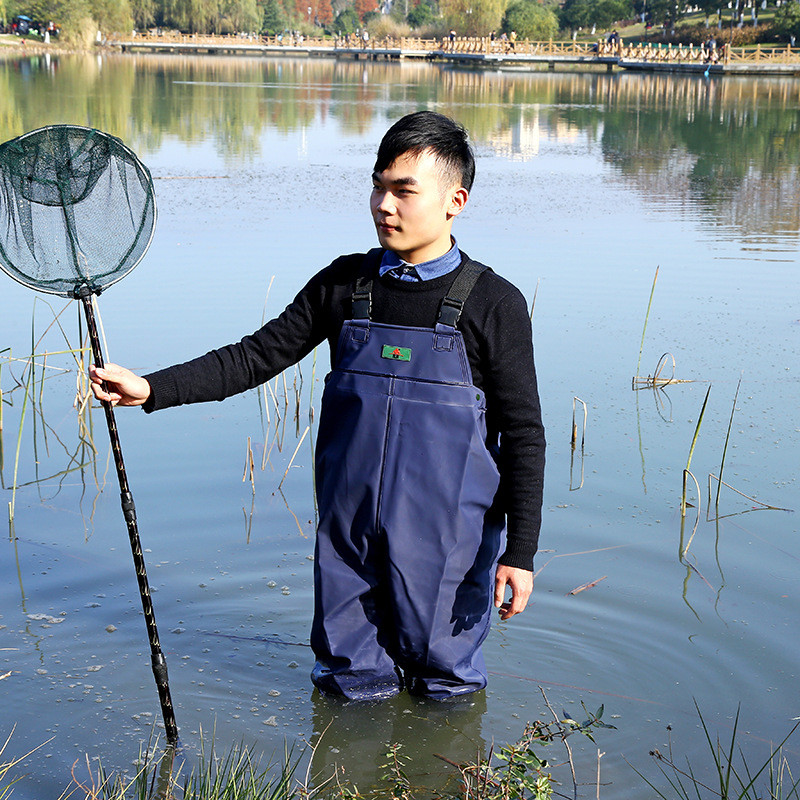 0.55mm Thicken Fishing Wader PVC Breathable Chest Waders for Fishing Hunting Waterproof One-piece Dichotomanthes End Fish Waders high jump camouflage fishing waders 0 7mm pvc breathable waterproof chest fishing wader unisex dichotomanthes end fishing waders