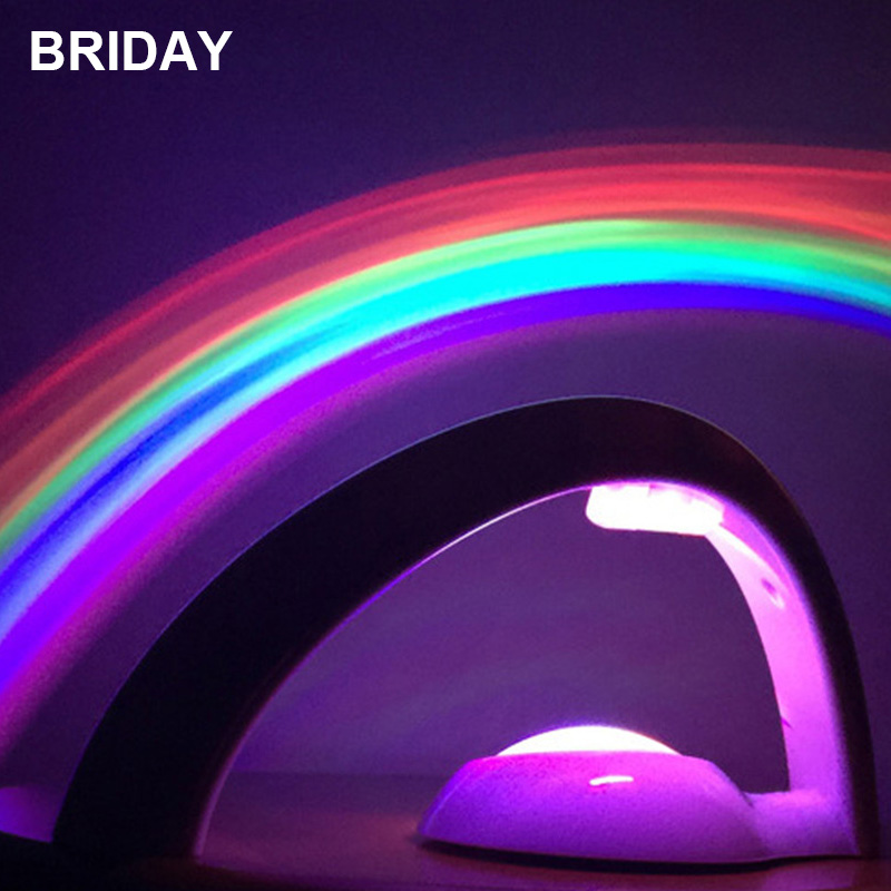 LED Night LED Lamp Rainbow Projection Battery Powered Starry Sky Romantic Atmosphere for Children Gift Curved Colorful Light the starry sky iraqis projection lamp home night light for christmas
