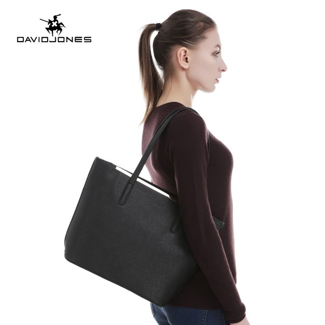 DAVIDJONES Tote Bag Women Female PU Shoulder Bags Handbag Top-Handle Handbag bolsa feminina bolso mujer sac a main tassen