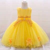 Vestido blanco para niña, vestidos para fiesta y boda, vestido de bautizo para niña, vestido de 2 a 1 año, vestido de princesa de cumpleaños, 6 a 12 meses, 2021