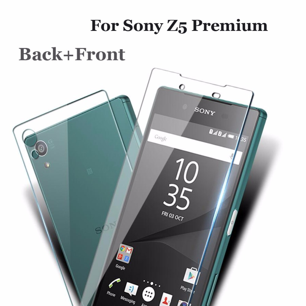 Front and Back Tempered Glass for sony xperia z5 premium screen protector for sony z5 premium dual Glass  Screen Protector Film