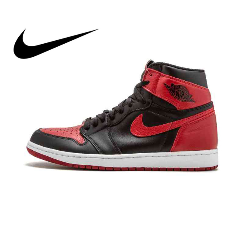 the latest 9328d 832ba US $175.57 17% OFF|Original Authentic Nike Air Jordan 1 Retro High OG AJ1  Men's Basketball Shoes Sneakers Athletic Designer 2018 New 555088 001-in ...