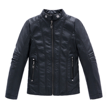 Boys Coat 2016 Winter New PU Leather Solid Black Thick Child Casual Jacket For Boys Spring Autumn Kids Jackets And Coats 3-14Y