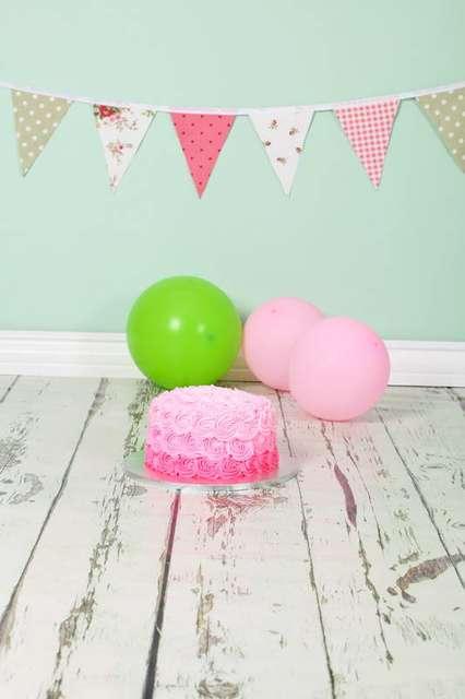 Light Green Birthday Cake