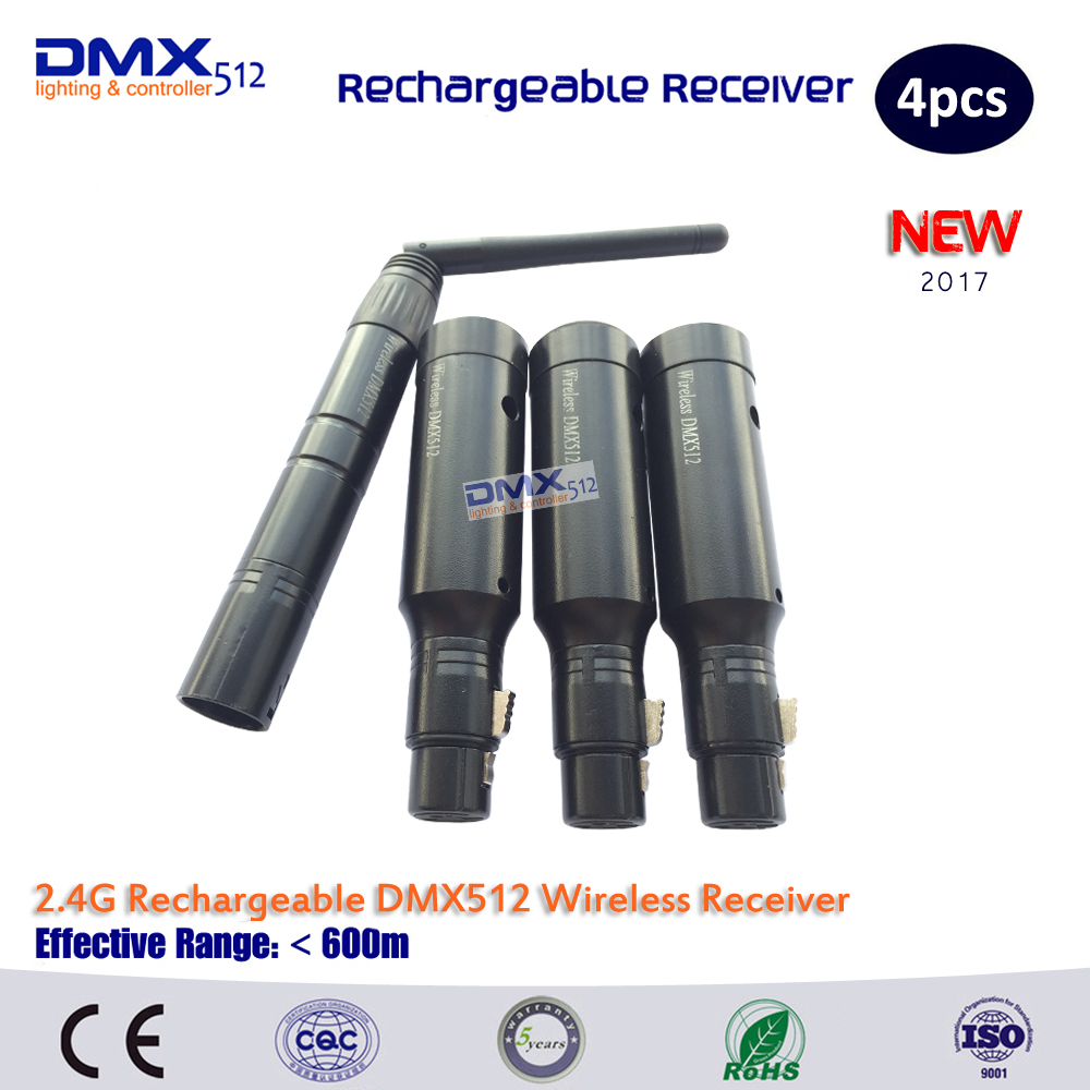 DHL Free shipping 2 4G Wireless DMX Signal Controller DMX Lighting Controller 1Pc Transmitter 3Pcs Receiver