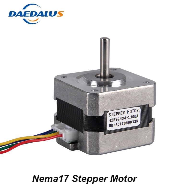 Low Noise 2 Phase 4 Wire Nema17 Stepper Motor 42BYGH34 1300A Stepping Motor For Engraving Machine and 3D PrinterLow Noise 2 Phase 4 Wire Nema17 Stepper Motor 42BYGH34 1300A Stepping Motor For Engraving Machine and 3D Printer