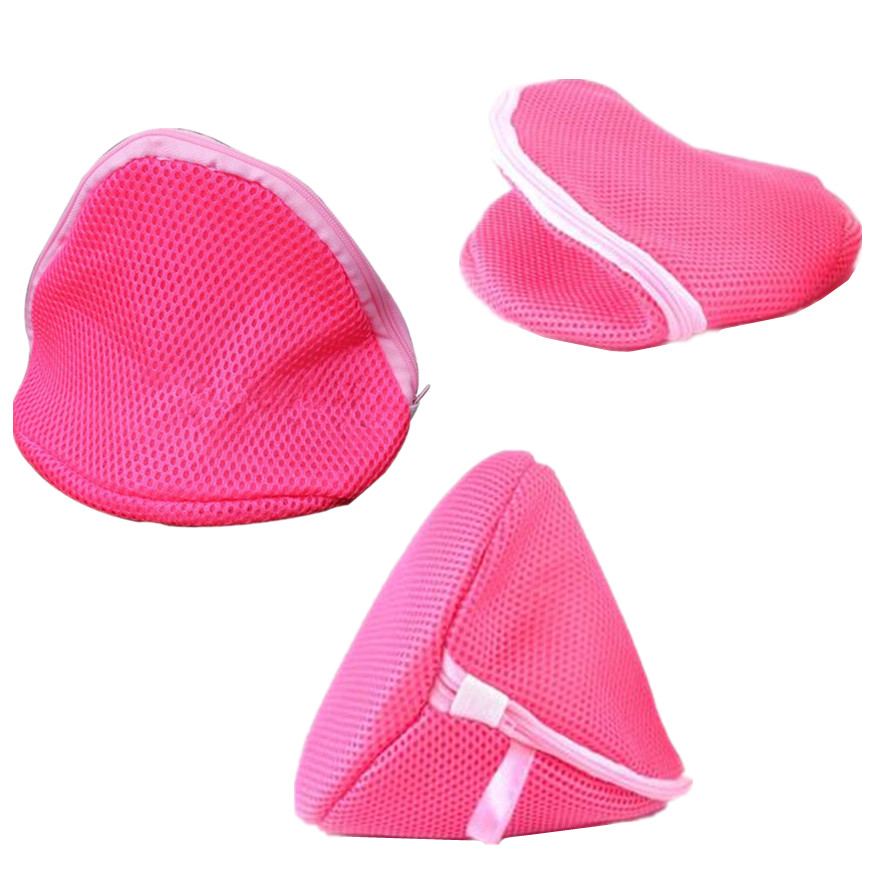 1Pcs Bra Saver Protect Pop Laundry Bags New Washing Lingerie Women Fashion Mesh Bag Aid Hosiery Rose Red