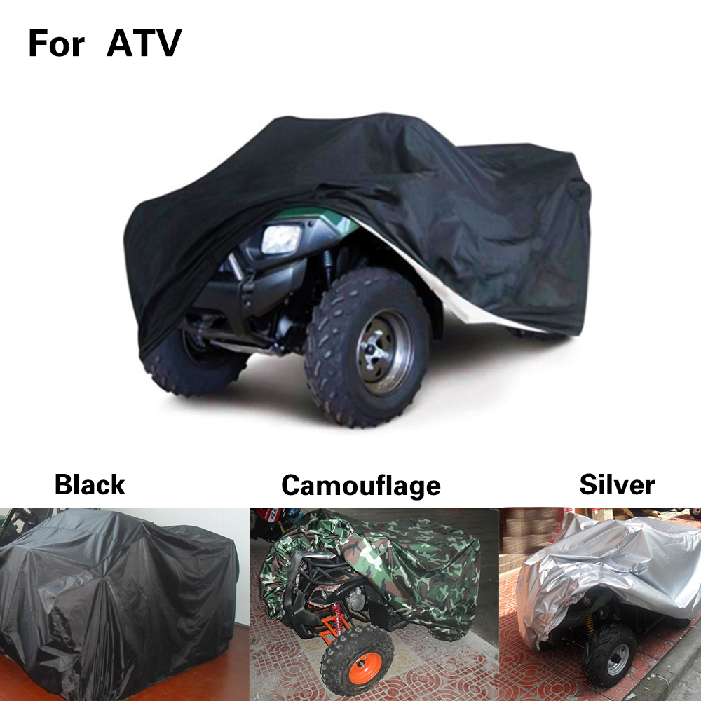 ATV Cover Rancher Suzuki Heavy Duty Waterproof ATV Cover Fits Up To 99 Length Superior ATV 4-Wheeler 4X4 Black Color For Polaris Honda Foreman FourtraX Yamaha Kawasaki Recon