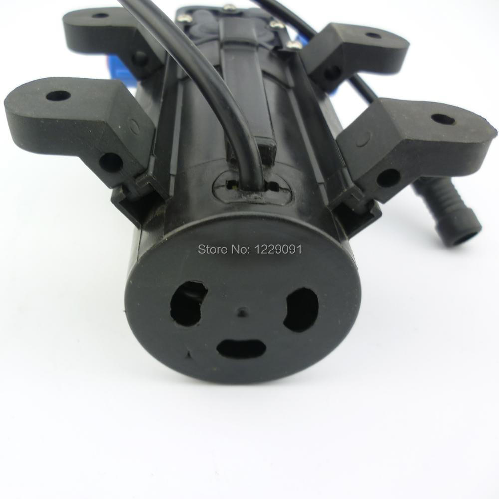 Купить с кэшбэком Return valve type 8bar 15W 1L/min Mini DC 12v electrical Diaphragm pump high pressure water mist Pump fog pump misting pump