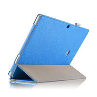 Ultra Thin 3 Folder Silk Stand Folio PU Leather Cover Magnetic Smart Sleep Funda Case For