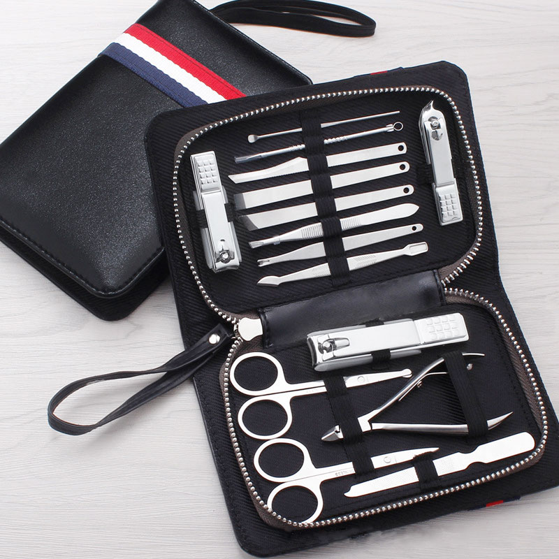 New 15 PCS/set Nail Clipper Kit Nail Care Set Pedicure