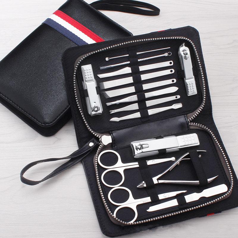New 15 PCS/set Nail Clipper Kit Nail Care Set Pedicure