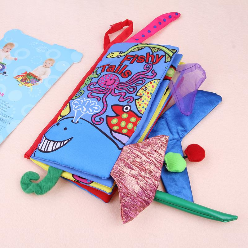 ALLOYSEED Baby Safety Knowledge Cloth Book Childrens Room Decorations 0~12 Months Animal Style Baby Toys Early Development Books