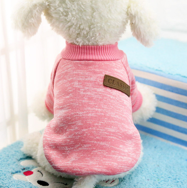 Classic Warm Dog Clothes Puppy Outfit Pet Jacket Coat Winter Clothes Soft Sweater Clothing For Small Dogs Chihuahua XS-2XL 25S1