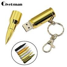 Металлическая ручка-накопитель Bullet USB Flash Drive 4 ГБ 8 ГБ 16 ГБ 32 ГБ 64 ГБ Флешка флэш-карта USB 2,0 диск флэш-памяти с брелоком