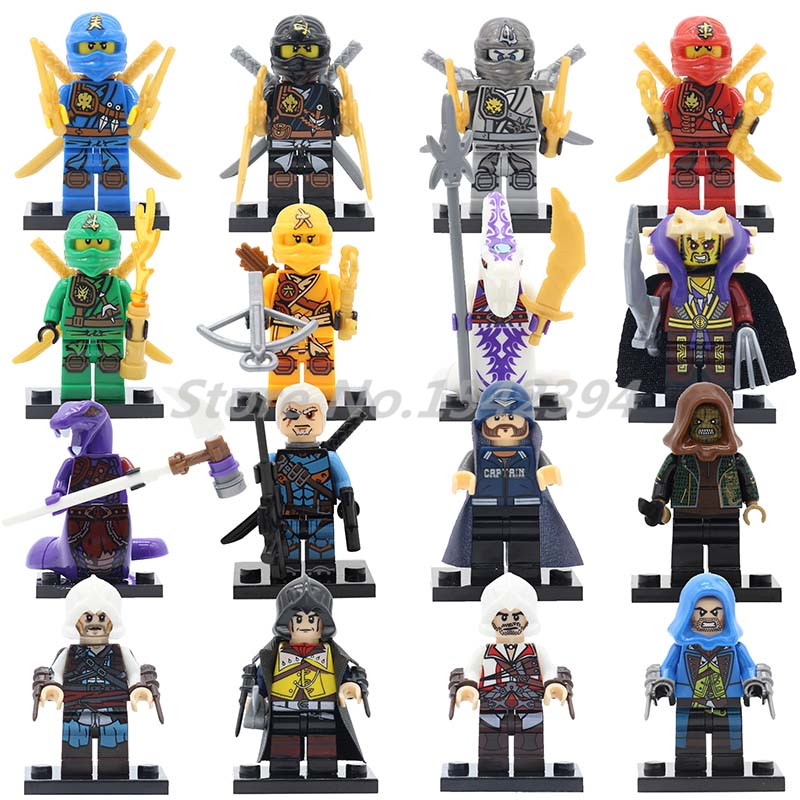 Single Sale Ninja Building Block Cole Zane Kai Pythor Lloyd Chen Skylor Kapau Ninja Super Villains Chen's Corps Snake Toys Gifts ботинки lloyd 26 734 20 schwarz