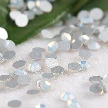 1440PCS SS3  Nail Crystal Non HotFix Snow Opal Rhinestone wallpaper flatback DIY Rhinestones