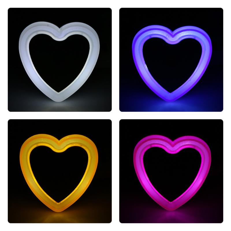 LED Light Mini Novelty Heart Sensor Baby Night Light Energy Saving Wall Lamp Bedroom Lamp Baby Gift Home Decor Light