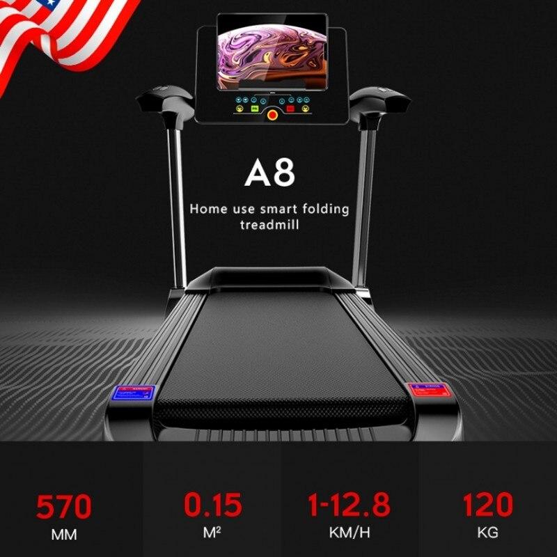 Tapis roulant pliant électrique de Bluetooth d'écran de couleur de HD pour l'exercice à la maison exécutent des Sports d'intérieur d'entraînement pour des tapis roulants de maison - 4