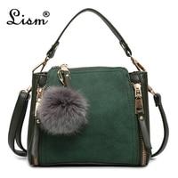 Luxury leather ladies handbag female zipper wallet fashion new 2018 ladies Messenger bag ladies leather suede bag main