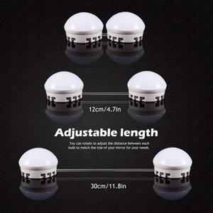 Image 5 - ハリウッドスタイル Led ミラーライトキット 10/12 LED 電球 7000 k 調光対応昼白色のための柔軟なメイク化粧テーブル