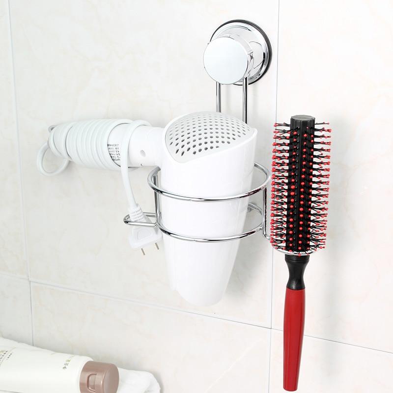 para pared de ba/ño plano Soporte BeGrit para secador de pelo