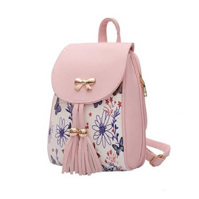e41798f75e1 ZOQW Fashion Printiing Backpacks School Girl Backpack High Quality PU  Leather Women's Mini bags 2018 Hot