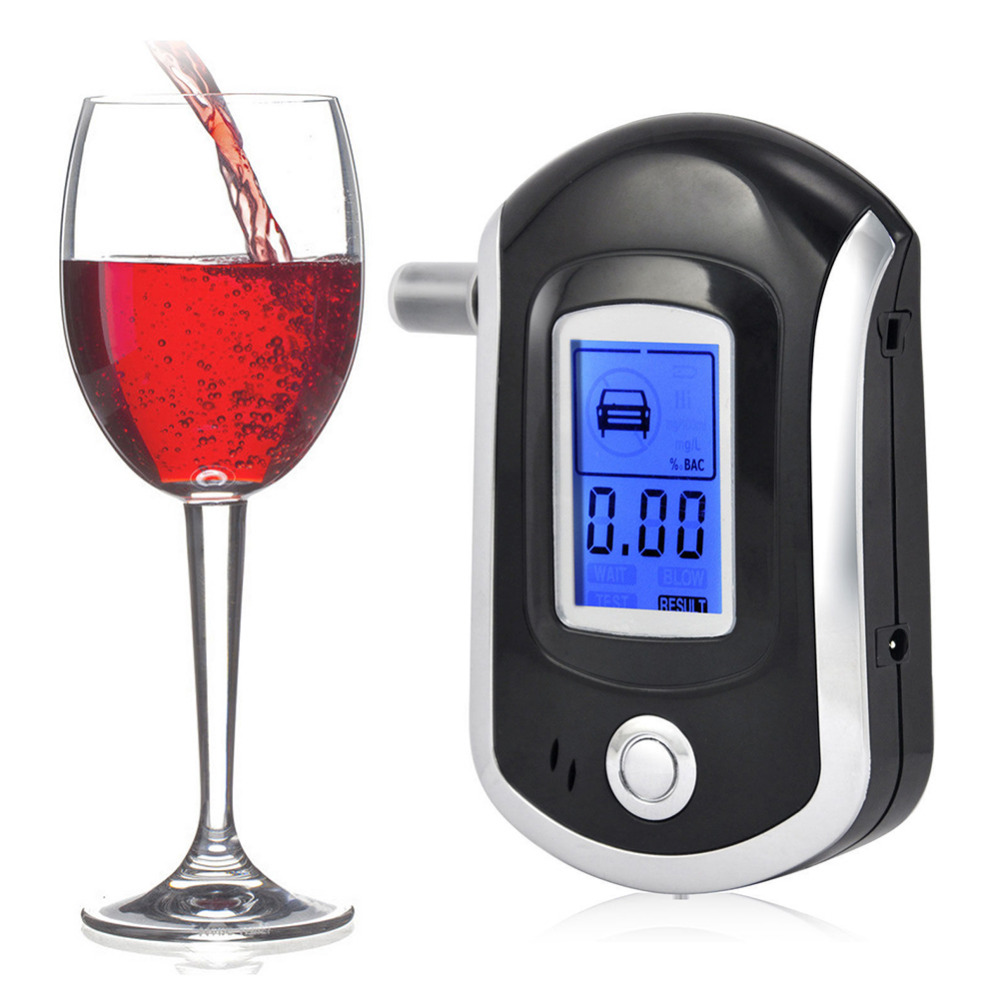 Mini Digital Alcohol Breath Tester LCD Breathalyzer Professional Portable Analyzer Detector with 5 Mouthpieces Quick Response|Alcohol Tester| |  - title=