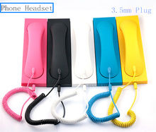 Fashion  Retro Phone Headset Anti radiation Mobile Phone 3.5mm Plug Headphone Headset For iPhone Samsung iPad Telephone Set
