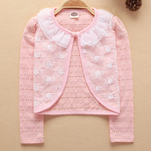 Cardigan Thin Girls Coat Soft Outwear For 2-9Years