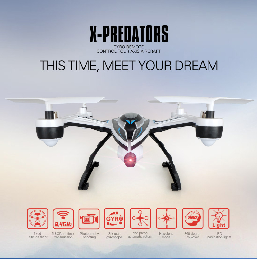 Original JXD 510V With 2MP HD Camera 6-axis Gyro Utomatic Air Pressure High Headless Mode One Key Return RC Quadcopter RTF 2.4G with more battery original jjrc h12c drone 6 axis 4ch headless mode one key return rc quadcopter with 5mp camera in stock