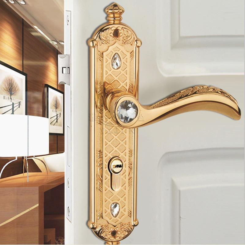 The Door Handle Door Lock With European Diamond Crystal