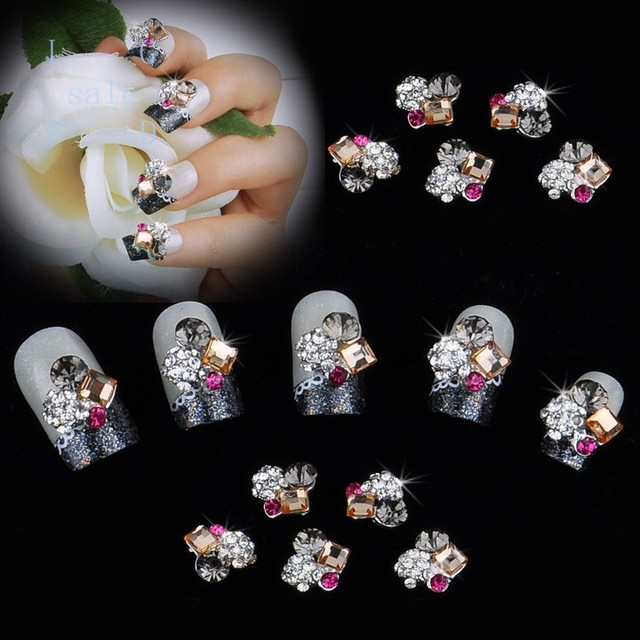 10packs/Lot Wholesale/ Nails Supply 3D Flowers DIY Acrylic Nails ...