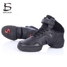 Blanc Noir Rouge Sneakers Pour Femmes Et Hommes Moderne Salsa De Danse de Jazz Danse Chaussures En Cuir Véritable Avec Respirant Hommes Sneakers