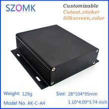 1 шт., 28*104*95 мм для настенного монтажа алюминиевый корпус для печатных плат распределительная коробка экструдированный алюминиевый коробка устройство szomk алюминия случае