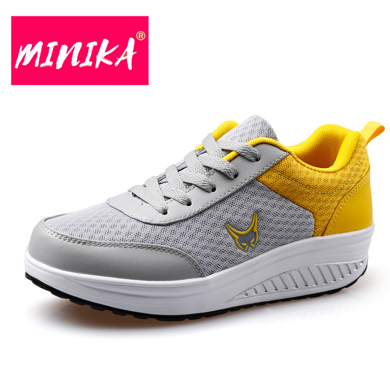 MINIKA Breathable Women Mesh Shoes New Arrival Lace-Up Flat Shoes Women Mixed Colors Casual Shoes Women Autumn Winter Shoes fashion women casual shoes breathable air mesh flats shoe comfortable casual basic shoes for women 2017 new arrival 1yd103