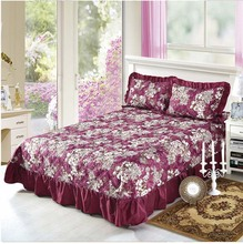 elegant flowers bed cover 3pcs full queen king size cotton sheets bedspreads pillowcase bedclothes set bedding