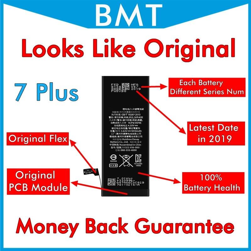 Bamyoyo 10pcs Looks Like Original Battery for iPhone 7 Plus 7P Accu 2900mAh Replacement AP LOGO