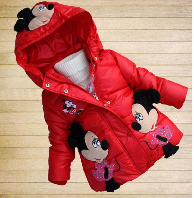 bd1695a1dbfc New 015 children thick winter coat jacket baby girl cartoon Minnie ...