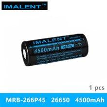 1 шт IMALENT 26650 4500 mah MRB-266P45 3,7 v литий-ионная аккумуляторная батарея высокая производительность для стока Светодиодный Фонари