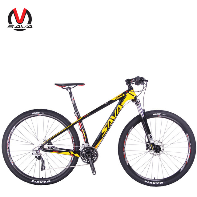 SAVA 30 Speed 29er Men&Women 29 Mountain Bike Carbon Fiber MTB Bicycle Shimano M6000 Bicicleta Disc Brakes Cycling Bike XCM fork