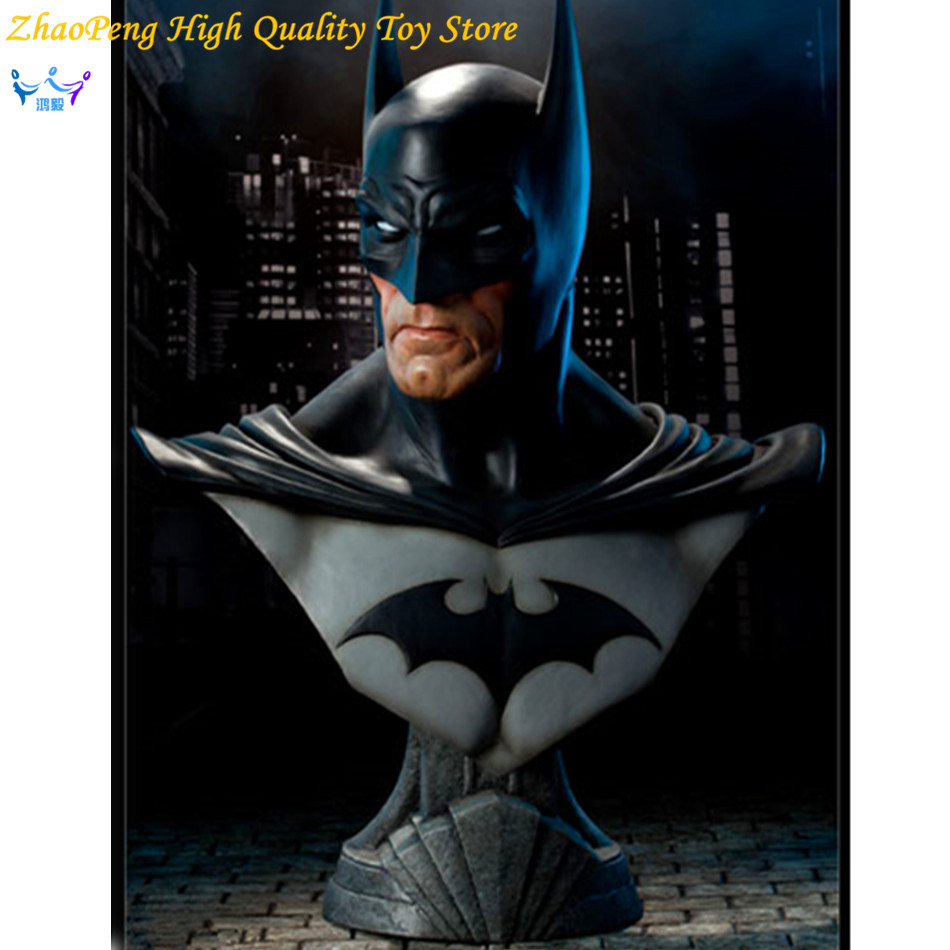 Free Shipping DC Anime Batman Statue Dark Knight Rises Bust Justice League Superhero Action Figures Collection Toy FB196 justice league dark volume 5 paradise lost