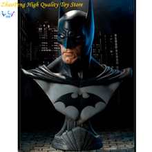 Free Shipping DC Anime Batman Statue Dark Knight Rises Bust Justice League Superhero Action Figures Collection Toy FB196